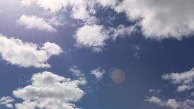 Blue Sky clouds weather timelaps stock video footage