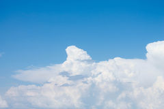 Blue sky with clouds. Blue sky with white clouds Royalty Free Stock Image