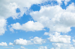 Blue sky with clouds. Blue sky with white clouds Royalty Free Stock Images