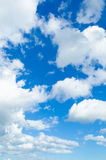 Blue sky with clouds. Blue sky with white clouds Stock Image