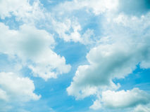 Blue sky with clouds. Blue sky with white clouds stock images