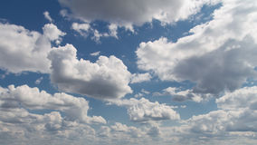 Blue sky with clouds. Blue sky with white clouds background image Royalty Free Stock Images