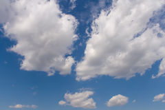 Blue sky with clouds. Blue sky with white clouds background image Stock Images