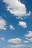Blue sky with clouds. Blue sky with white clouds background image Royalty Free Stock Photography