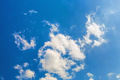 Blue sky with clouds. Blue sky with white fluffy cumuli clouds Stock Images
