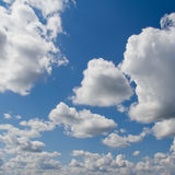 Blue sky with clouds. Blue sky with white clouds. Natural  background image Royalty Free Stock Photos