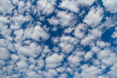 Blue sky with clouds. Blue sky with white clouds. Natural background image royalty free stock image
