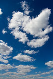 Blue sky with clouds. Blue sky with white clouds. Natural background image stock photography