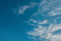 Blue sky clouds. White nature Stock Photography