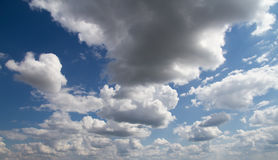 Blue sky with clouds. Blue sky with white clouds panoramic image royalty free stock photo