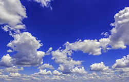 Blue sky with clouds. Blue sky with white clouds on a sunny day Stock Image