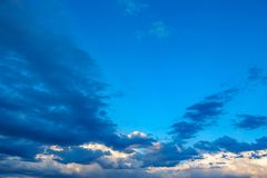 Blue sky with clouds Stock Photography