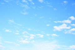 Blue sky with clouds. Wide angle shot of blue sky with clouds, may be used as background Royalty Free Stock Photo