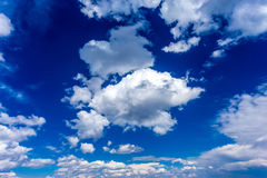 Blue Sky and Clouds. XXL. Sky and clouds background. Sky background Stock Photo