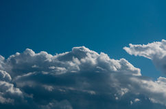 Blue sky and cloudscape. Background of blue sky and cloudscape Stock Images