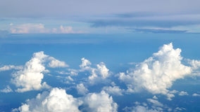 Blue sky cloudscape background from aerial view Royalty Free Stock Photography