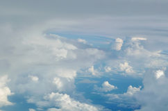Blue sky cloudscape background from aerial view Royalty Free Stock Image