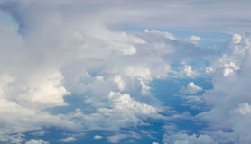 Blue sky cloudscape background from aerial view Stock Photo