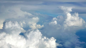 Blue sky cloudscape background from aerial view Royalty Free Stock Photo