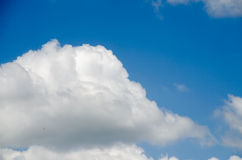 Blue sky. In cloudy day Stock Photography