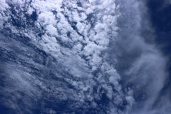 Blue sky with cloudy. Detail of blue sky with cloudy Royalty Free Stock Photos
