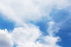 The blue sky and cloudy shape. Stock Image