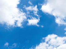 Blue sky with clound baqckground. Blue sky with white clound in sunny day Royalty Free Stock Images