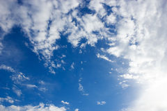 Blue sky and cloundy Stock Images