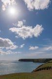 Blue sky and coast line Stock Photography