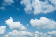 Blue sky color with clouds background photo Royalty Free Stock Image