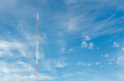 Blue sky with communication towers Stock Photography