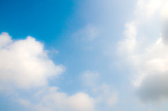 Blue sky and could. Background Royalty Free Stock Image
