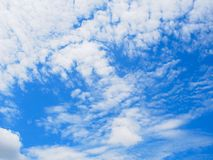 Blue sky and could. In summer Royalty Free Stock Image
