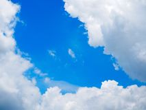 Blue sky and could stock photography