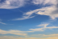 Blue sky coulds. Awesome Bright Blue Sky Partly Cloudy Best Ozone - Texture Background Stock Images