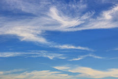 Blue sky coulds. Awesome Bright Blue Sky Partly Cloudy Best Ozone - Texture Background Royalty Free Stock Image
