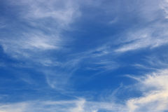 Blue sky coulds. Awesome Bright Blue Sky Partly Cloudy Best Ozone - Texture Background Stock Image