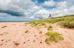 Blue Sky at Covehead. A dramatic blue sky over the Covehead Lighthouse at Stanhope, PEI Stock Photos