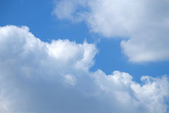 Blue sky covered with clouds. Suitable for backgrounds. Royalty Free Stock Photo