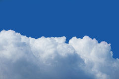 Blue sky covered with clouds. Suitable for backgrounds Stock Image
