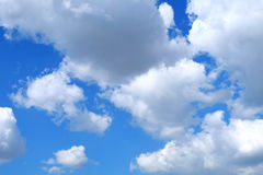 Blue sky covered with clouds. Suitable for backgrounds. Stock Photography