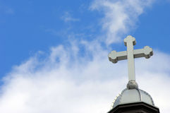 Blue Sky and Cross Stock Images