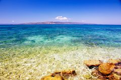 Blue sky and crystal sea Royalty Free Stock Images