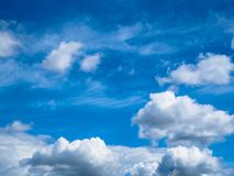 Blue sky with cumulonimbus clouds. Heavenly background. Blue sky with cumulonimbus clouds. Heavenly background Royalty Free Stock Image