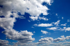 Blue sky and cumulus clouds Royalty Free Stock Photography
