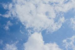 Blue sky and cumulus clouds. Background light air bright brightly climate cloudscape cloudy condensation day environment fluffy freedom heaven high idyllic royalty free stock photography