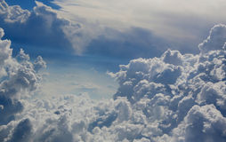 The blue sky with cumulus clouds. Royalty Free Stock Photography
