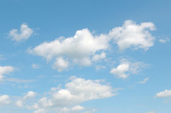 Blue sky and  cumulus clouds Royalty Free Stock Photo