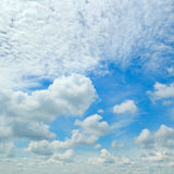Blue sky and  cumulus clouds Royalty Free Stock Photos
