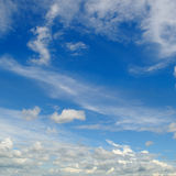 Blue sky and cumulus clouds Stock Images